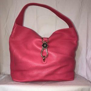 Dooney and bourke Belvedere logo lock shoulder bag